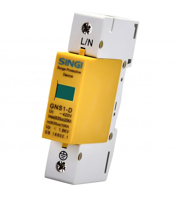 1 pole yellow surge protector device   solar    dc