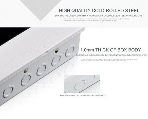 High quality ABS material 16 mounted units electrical distribution box design flexibly surface mounted distribution box