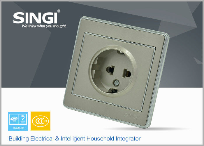 CE certificated modern Wall Switch Socket safety electrical sockets