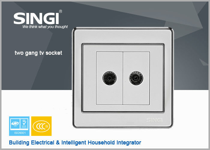 2 gang TV socket Hot sell one gang wall switch and socket for Brazil ...