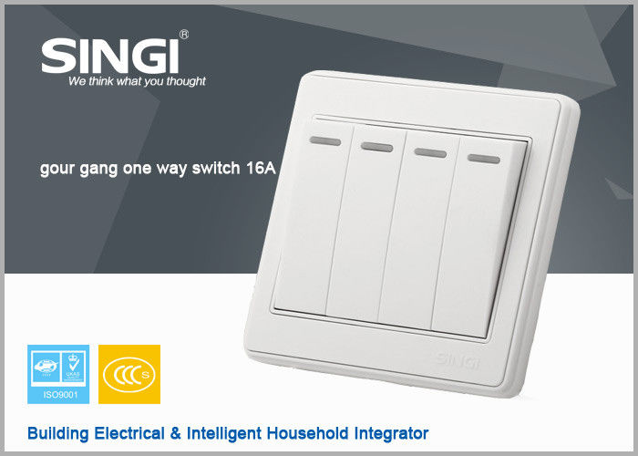 Smart Home Touch Light Wall Switch Electric 4 Pin Socket