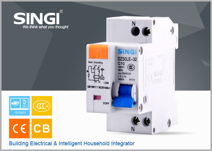 Single phase Electric mini Residual Current Circuit Breaker for ...