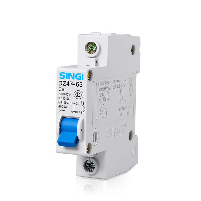 DZ47 type Small residual current circuit breaker with overcurrent protection