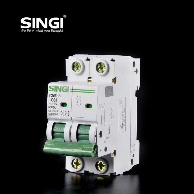 PV system 1P 6a 24v DIN Rail DC MCB Solar system circuit breaker waterproof electrical circuit breaker box